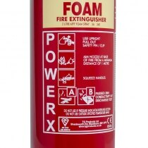 Suitable for fires involving flammable solids and liquids
