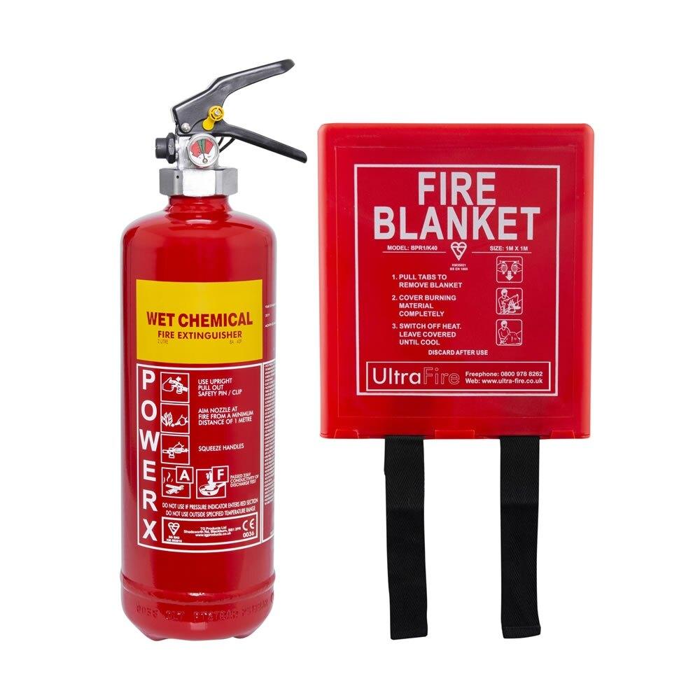 2ltr Wet Chemical Extinguisher + Fire Blanket Offer