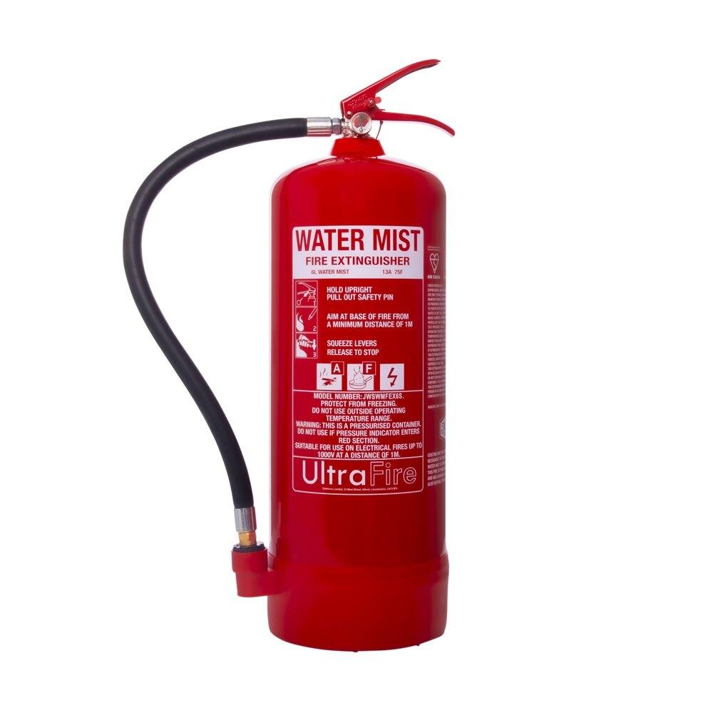 6ltr Water Mist Fire Extinguisher - Ultrafire