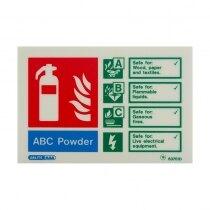 Landscape Photoluminescent Powder Extinguisher ID Sign