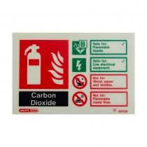 Landscape Photoluminescent CO2 Extinguisher ID Sign