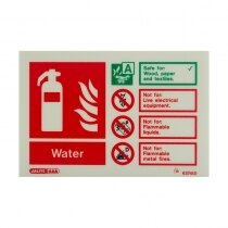 Landscape Photoluminescent Water Extinguisher ID Sign