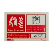 Landscape Photoluminescent Fire Blanket ID Sign