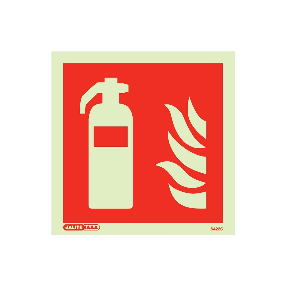 Photoluminescent Vinyl Fire Extinguisher Sign
