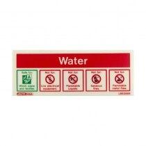 Self-Adhesive Photoluminescent Water Extinguisher ID Sign