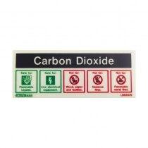 Self-Adhesive Photoluminescent CO2 Extinguisher ID Sign