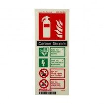 Portrait Photoluminescent CO2 Extinguisher ID Sign