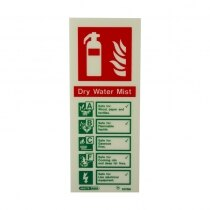 Portrait Photoluminescent Water Mist Extinguisher ID Sign