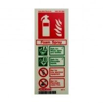 Portrait Photoluminescent Foam Extinguisher ID Sign