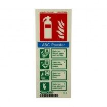 Portrait Photoluminescent Powder Extinguisher ID Sign