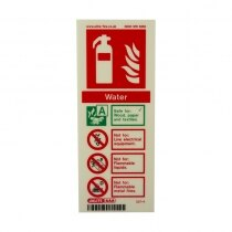 Portrait Photoluminescent Water Extinguisher ID Sign