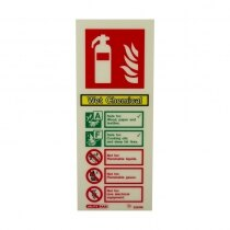 Portrait Photoluminescent Wet Chemical Extinguisher ID Sign