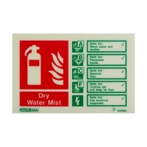 Landscape Photoluminescent Water Mist Extinguisher ID Sign