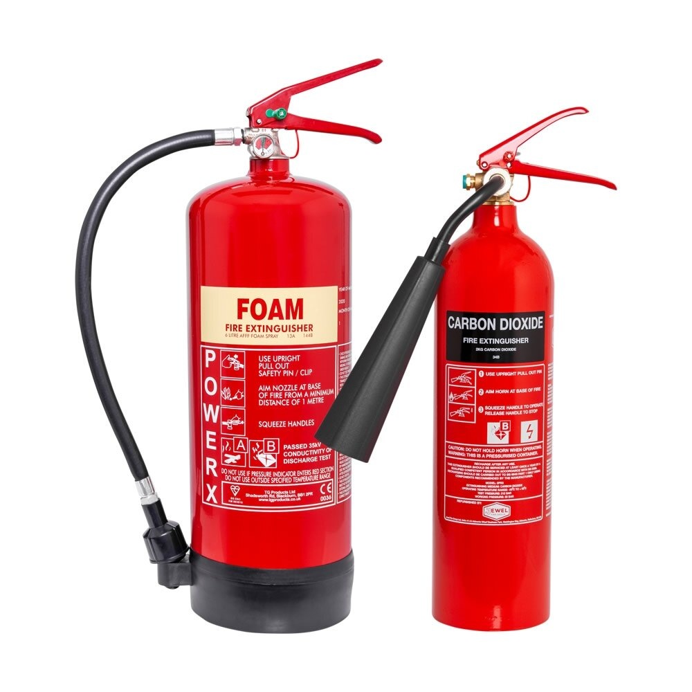 2kg CO2 + 6ltr Foam Fire Extinguisher Special Offer