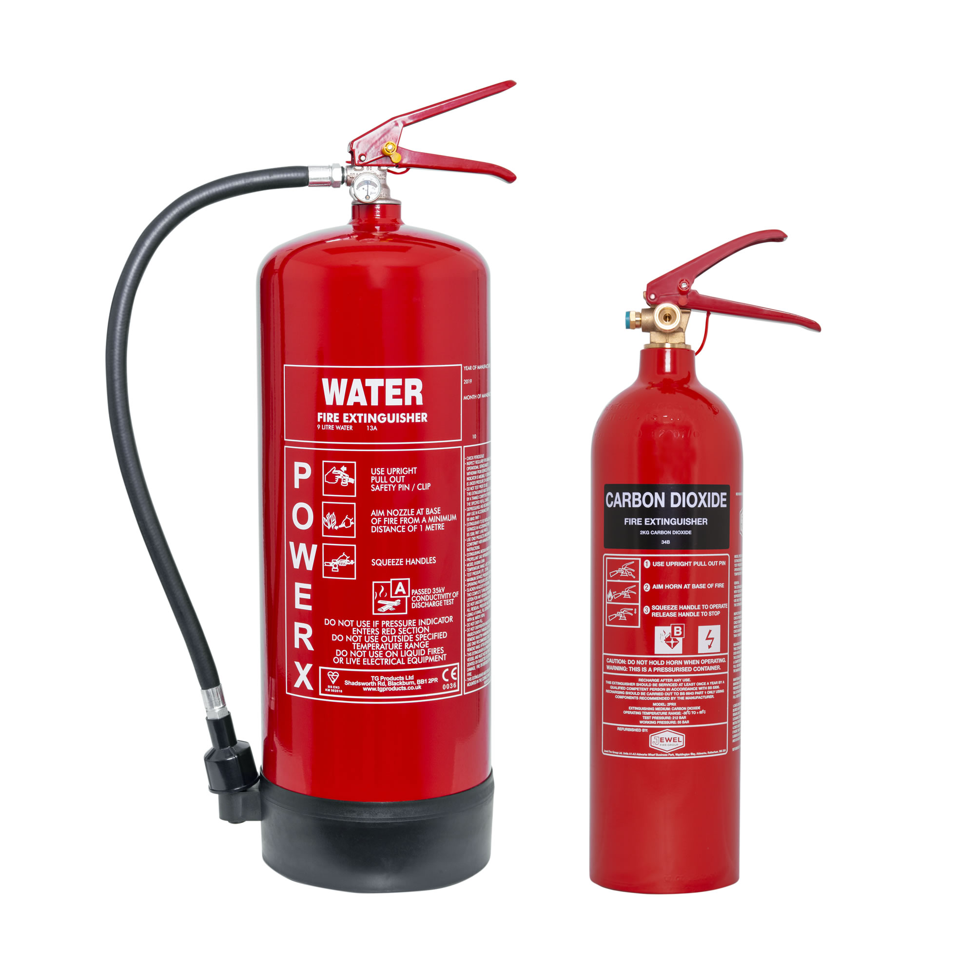2kg CO2 + 9ltr Water Fire Extinguisher Special Offer