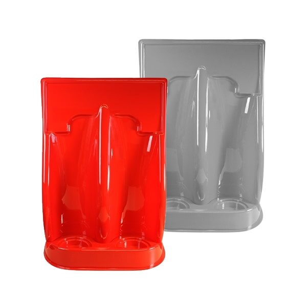 Universal Economy Fire Extinguisher Stand - Double - Red or Grey