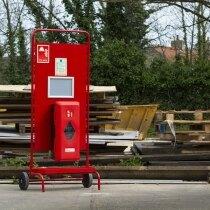 Suitable for holding a single 6ltr / 6kg or 9ltr / 9kg fire extinguisher