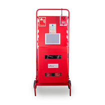 Suitable for holding two 6ltr / 6kg or 9ltr / 9kg fire extinguishers