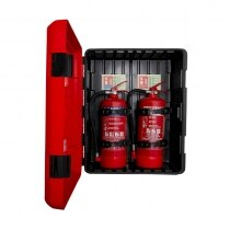 Suitable for storing most 6ltr / 6kg and 9ltr / 9kg extinguishers