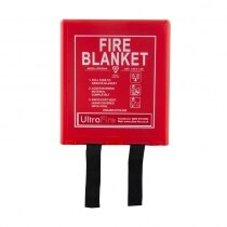 Wall mounted fire blanket