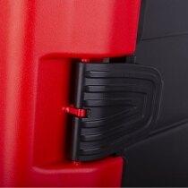 Ergonomic double lock to avoid accidental opening