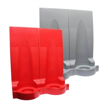 Image of the Universal Modular Fire Extinguisher Stands - Double - Red or Grey